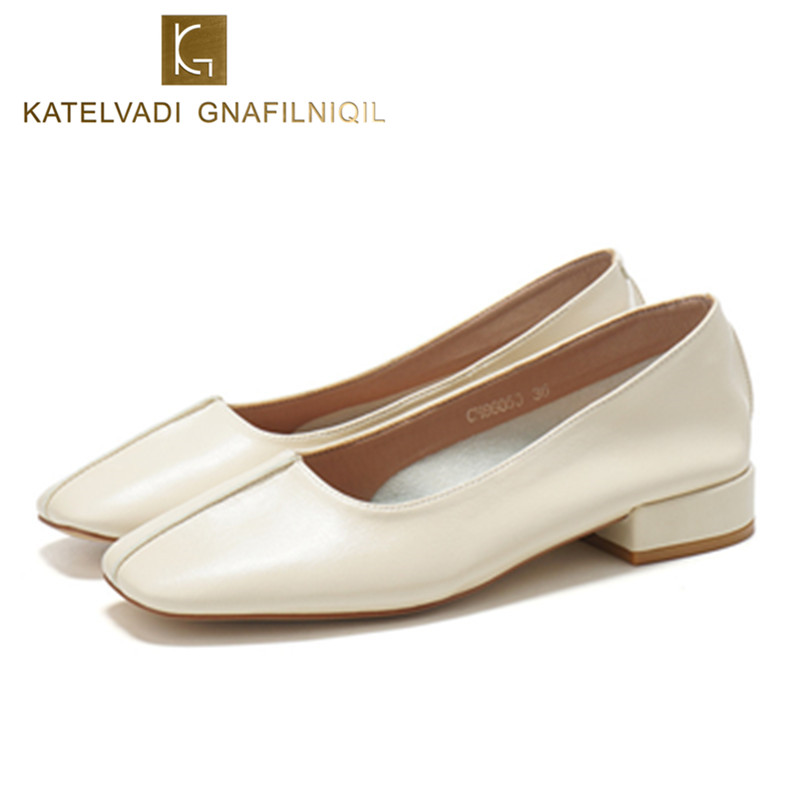 Beige Shoes Woman Flats Square Toe PU Leather Retro Women Shoes Flat Fashion Comfortable Soft Casual Shoes Grandma Loafers K-168 new arrival soft leather shoes women flats fashion design square toe comfortable women s flats office ladies brand shoes