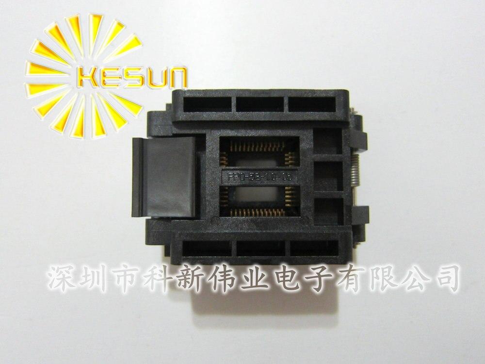 100% NEW FPQ-52-1.0 QFP52 TQFP52 IC Test Socket / Programmer Adapter / Burn-in Socket (FPQ-52-1.0-05) 100% new sot23 sot23 6 sot23 6l ic test socket programmer adapter burn in socket