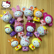 12pcs/set Hello Kitty Figure Toys KT Cat Japanese Anime Figures Gift Limited Edition Toys Collection Gifts Kids Hand to do Car цена в Москве и Питере