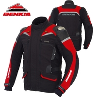BENKIA Motocross Motorcycle Jacket Men Racing Jacket Winter Reflective Moto Jacket Protection Jacket Motorcycle Protector JD08