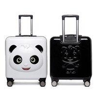 Детский чемодан, милый Детский чемодан на колесиках, детский Багаж, мужские и wo мужские чемоданы, Подарочная коробка с паролем, коробка для п