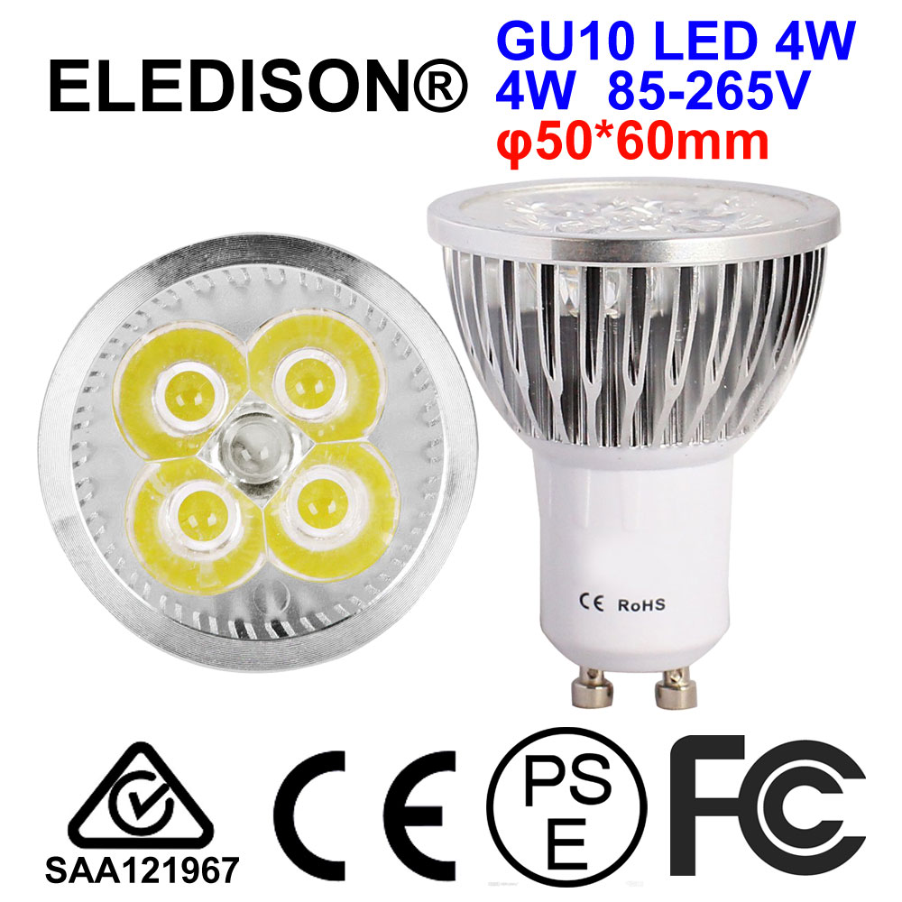 4W 8W LED GU10 Bulb Light 400LM to Replace 30W Halogen Bulb 85-265V AC Angle 45 Degrees Track LED Lighting