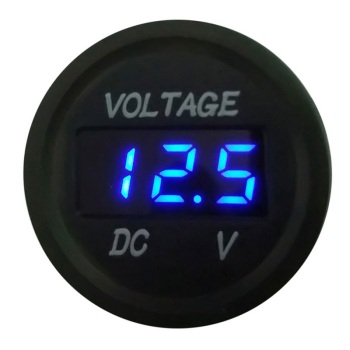 5-48V Car Battery Voltmeter LED Digital Display Motorcycle Car Voltmeter Detector image