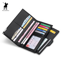 Men Casual Credit Card Id Holder Thin Wallet WILLIAMPOLO Luxury Brand High Quality Leather Business Card Checkbook Holder Purses