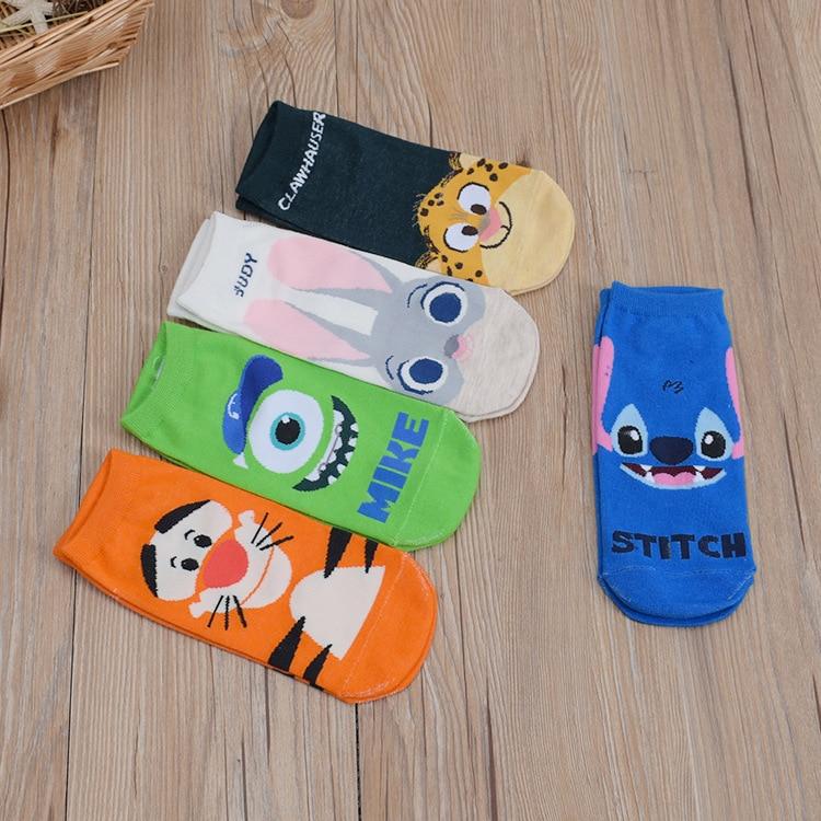 Летние носки-башмачки Абердин планктон тигра милый мультфильм Kawayi Для женщин студентка Невидимый вентиляции хлопковые носки Новые