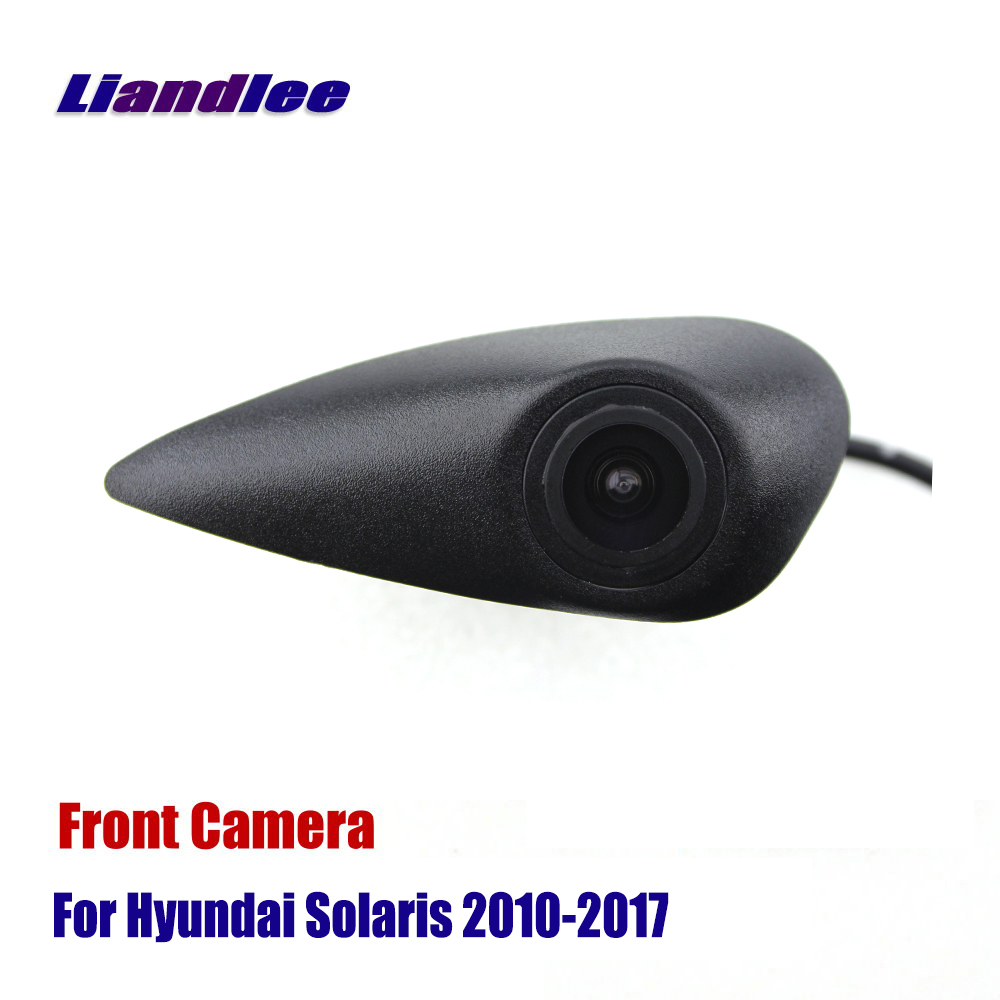 AUTO CAM Car Front View Logo Embedded Camera For Hyundai Accent Solaris 2010-2017 ( Not Reverse Rear Parking Camera )