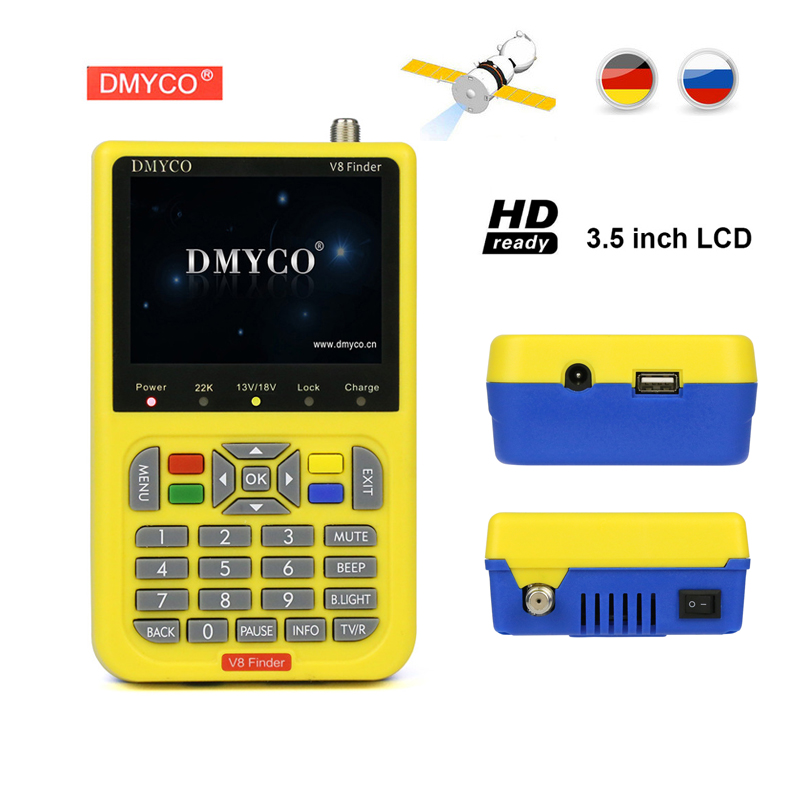 Genuine DMYCO V8 Finder DVB S2 High Definition Satellite Finder MPEG 4 DVB S2 Satellite