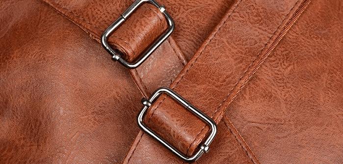 01 Sacs à dos Vintage en cuir PU
