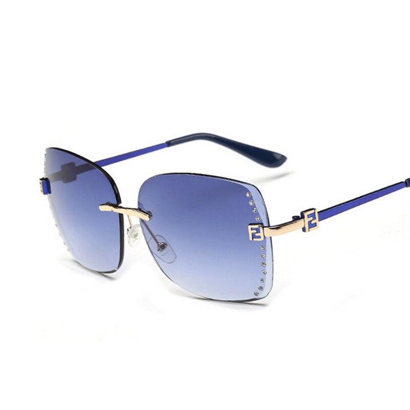 Módní značky Rimless Butterfly sluneční brýle Dámské značkové značkové vícebarevná sluneční brýle pro ženy UV400 Oculos De Sol Feminino