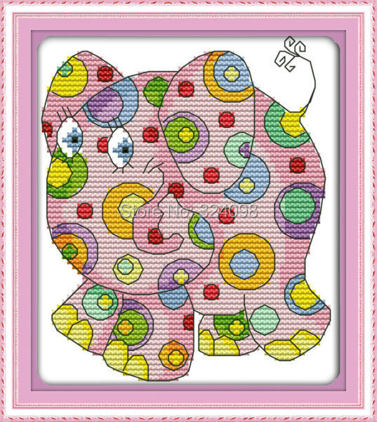Wholesale Needlework,Stitch,14CT Cross Stitch,Sets For Embroidery Kits,Colorful Animal (1) Counted Cross-Stitching