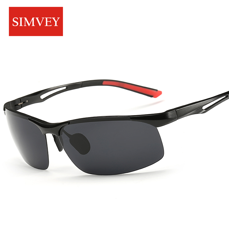 Simvey 2017 New Men Driving Polarized Sunglasses Aluminum Alloy Frame Sport Fishing Golf Sun Glasses High Quality