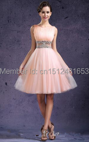 Popular Short Light Pink Dresses for Juniors-Buy Cheap Short Light ...