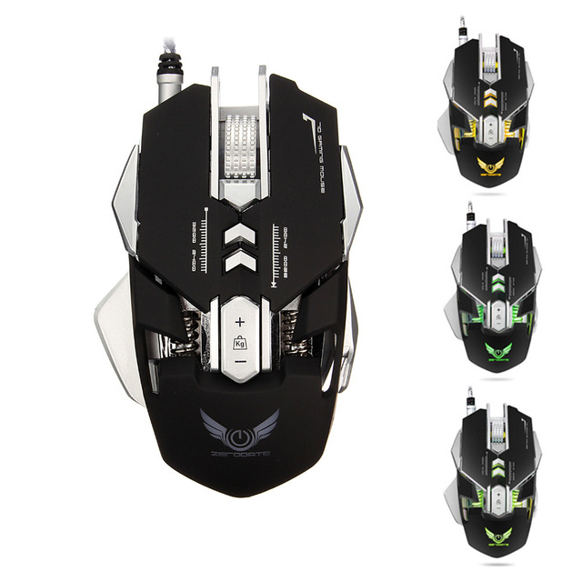 Professionelle Usb kabel Gaming Mouse 7 Knöpfen Verstellbare 3200 ...