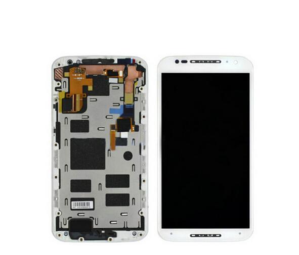 Prix pour Pour Motorola Moto X2 X + 1 Xt1092 Xt1095 Xt1096 Xt1097 Lcd Display + Écran Tactile En Verre Digitizer + Cadre assemblée blanc