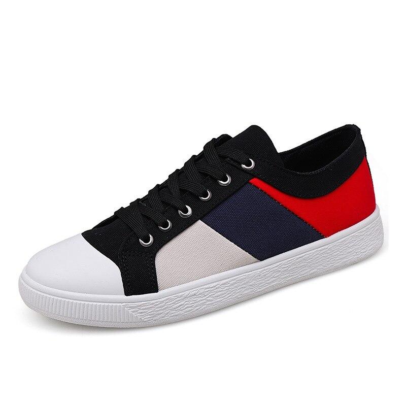 Herrenschuhe Freundlich Tosjc Männer Turnschuhe Frühling Mode Sneaker Atmungsaktive Vulkanisierte Schuhe Patchwork Leinwand Schuhe Männlichen Schuhe