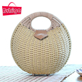BVLRIGA Women Bag Summer Style Woven Bag Straw Weave Clutches Shell Beach Handbags Women Fashion Travel Handbags Straw Bag 2017