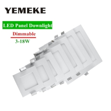 Dimmable LED Panel Light 3w 4w 6w 9w 12w 15w 18w Downlight Square Recessed Celing Lamp Warm Cold White Spot
