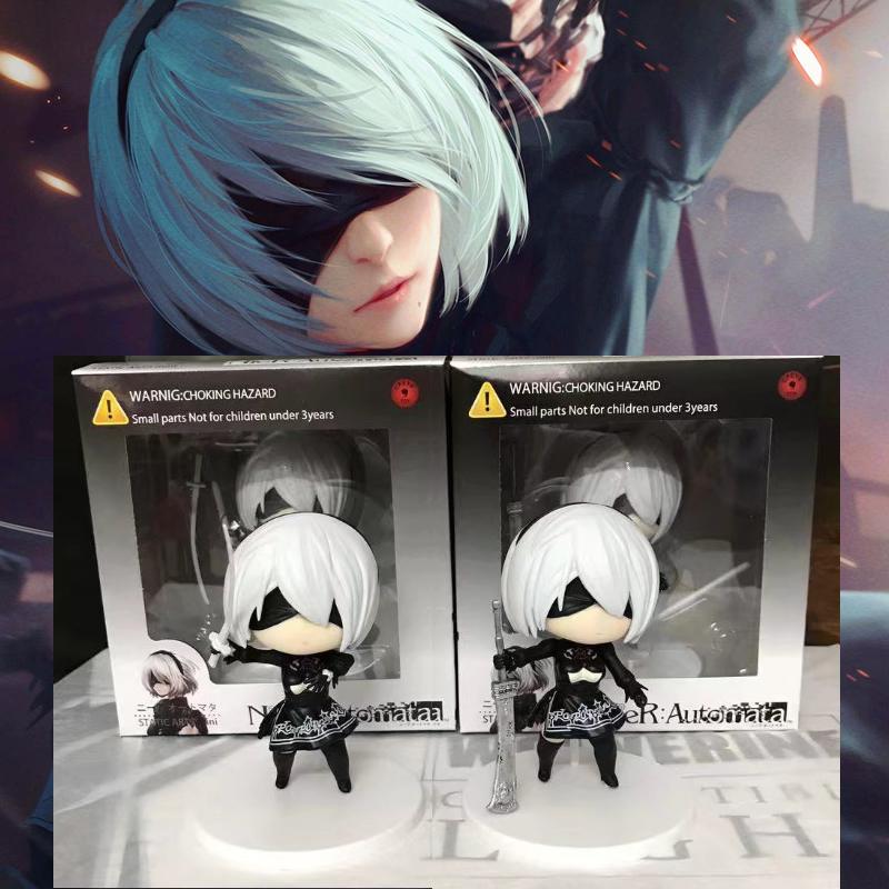 8CM NieR Automata Action PVC Model Toy 2 Styles YoRHa No. 2 Type B 2B Collection Cute Painted Figure Doll with box cmt cmt datong super mario shf action figure toy sh figuarts mario model with accessories set action figure