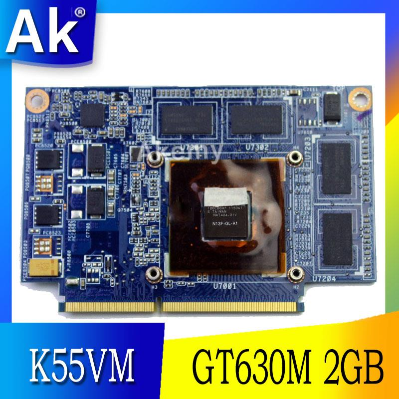 AK For ASUS K55VM Graphic Card GeForce GT 630M N13P-GL-A1 2GB Video card Fit A55V K55VM K55VJ K55V Laptop video card 100% TestedAK For ASUS K55VM Graphic Card GeForce GT 630M N13P-GL-A1 2GB Video card Fit A55V K55VM K55VJ K55V Laptop video card 100% Tested
