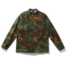European style street tide classic military camouflage baseball button simple men jacket embroidery lapel erkek mont coats