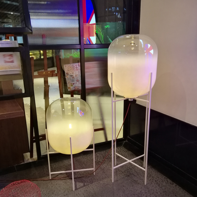 Kreative Einfache Boden Lampe Moderne Millky Glas Lampenschirm
