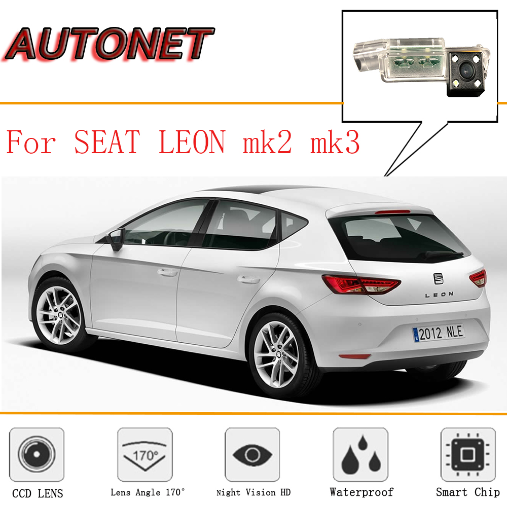 AUTONET Rear View font b camera b font For SEAT LEON MK2 MK3 SEAT LEON 2D4D
