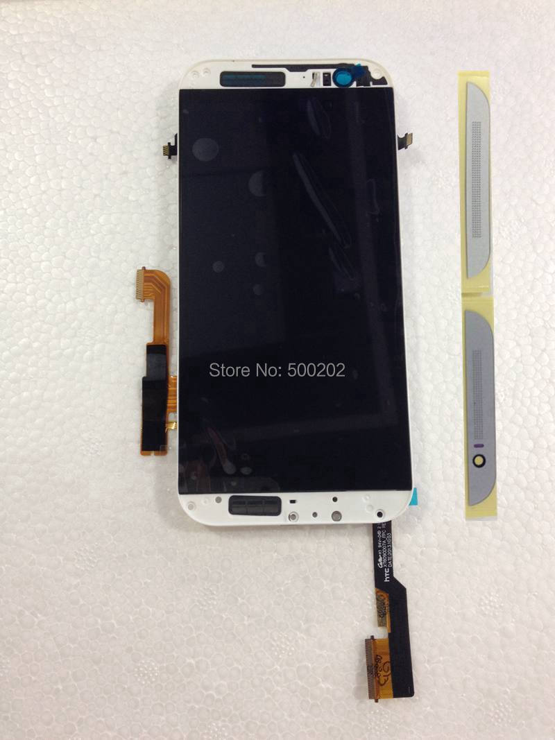 Подробнее о 5pcs New Black White LCD Display with Digitizer Touch Screen Panel Assembly with Frame For HTC ONE M8 2014 HK Post Free Shipping black white color for htc one m8 1pc lot lcd display touch screen digitizer with frame replacement free shipping