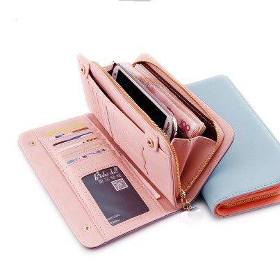 Women Long Wallet Brand Design Zipper Coin Purse PU Leather Female Wallets Credit Bank ID Card Case Holder Lady Clutch Bag