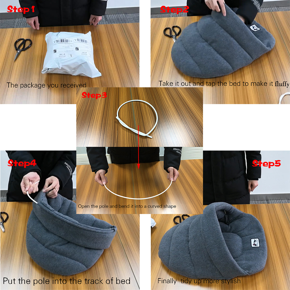 6 Colors Soft Polar Fleece Dog Beds Winter Warm Pet Heated Mat Small Dog Puppy Kennel House for Cats Sleeping Bag Nest Cave Bed 5