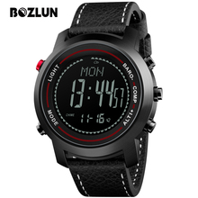 Bozlun Sport font b Watches b font Men Digital Wristwatches Chronograph Thermometer Compass Barometer Waterproof font