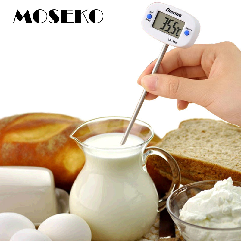 MOSEKO New Kitchen Cooking font b Food b font Meat Probe BBQ Digital Thermometer Chocolate Oven