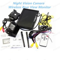 High Quality Wireless 7 inch TFT LCD Rear View Monitor CMOS IR Night Vision Backup Camera Kit Parking System
