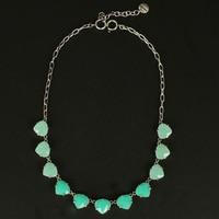 Merk Sieraden ketting voor vrouwen somervell ketting Geïnspireerd Aqua Glas hanger ketting vrouwen gift wit zwart perzik groen