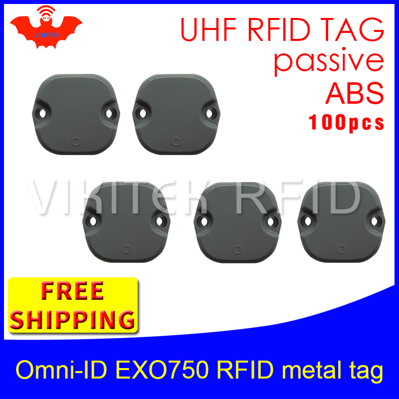 UHF RFID metal tag omni-ID EXO750 915mhz 868mhz Impinj Monza4QT EPC 5pcs free shipping durable ABS smart card passive RFID tags