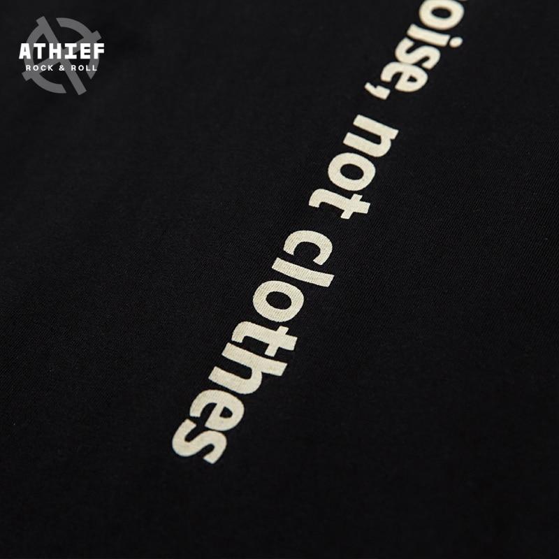 Athief Rock N Roll Citazioni Indietro Stampato Street Style