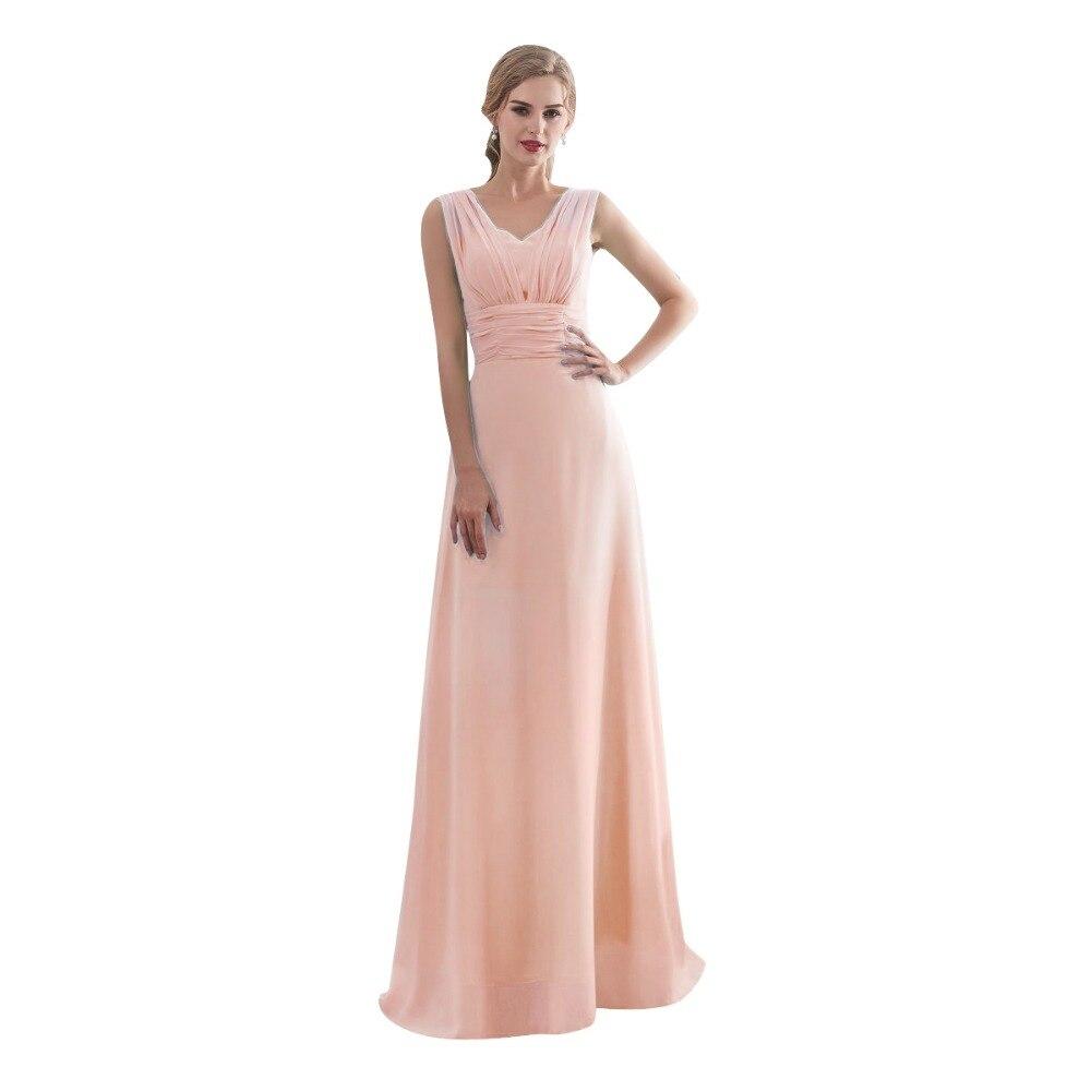 Ljepota-Emily Candy Boja Long-Line djeveruša haljine 2017 Off Sleeve - Vjenčanje večernje haljine - Foto 4