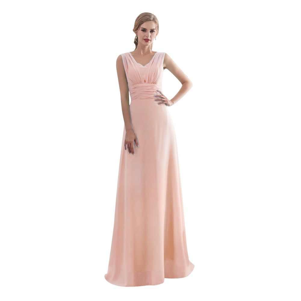 0cf57dfe3d27da5 ... 2019 карамельный цвет Элегантное длинное шифоновое ТРАПЕЦИЕВИДНОЕ ПЛАТЬЕ  подружки невесты Vestido da dama de honra свадебное ...