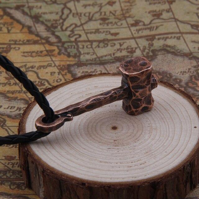 Men Necklace Scandinavian Viking jewelry Odin 's Symbol of Norse Viking thor hammer Warrior Slavic Norway Valknut 5