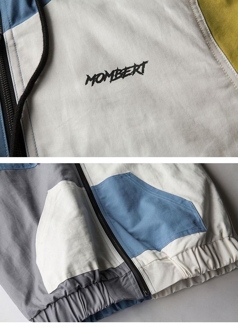 Aolamegs Bomber Jacket Men Retro Japanese Patchwork Thick Men's Jacket Hip Hop Fashion Outwear Autumn Men Coat Bomb Windbreaker