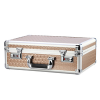 portable aluminum Aluminum alloy portable password toolbox document file makeup storage organizer confidential mobile cash safety box flight case (4)