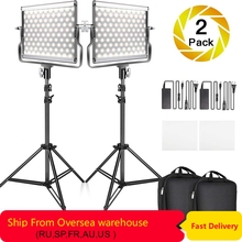 Travor 2 in 1 Bi-color L4500 LED Video Light kit studio light with U Bracket 3200K-5600K CRI96 photography lighting for YouTube falconeyes 100w rx 18td photography light portable video studio lighting bi color 3000k 5600k roll flex led photo light with bag