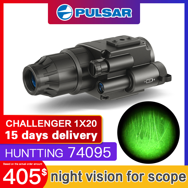 pulsar monocular night vision device hunting tactical infrared night vision goggles scopes 74095 CHALLENGER 1x20 Head Mountpulsar monocular night vision device hunting tactical infrared night vision goggles scopes 74095 CHALLENGER 1x20 Head Mount