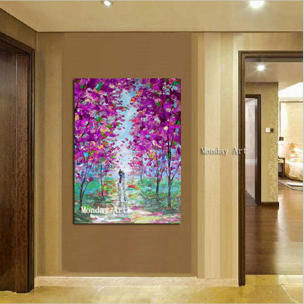 Large 100 handpainted rose abstract modern oil painting on the canvas wall of the art wall