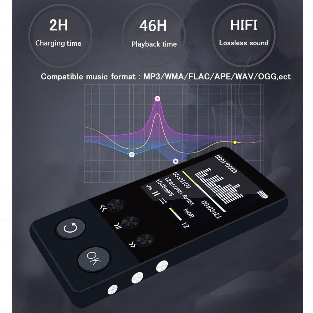 mp4 player bluetooth metal mp4 music hifi player 8gb high quality lossless sound audio video player walkman supoorts FM Radio