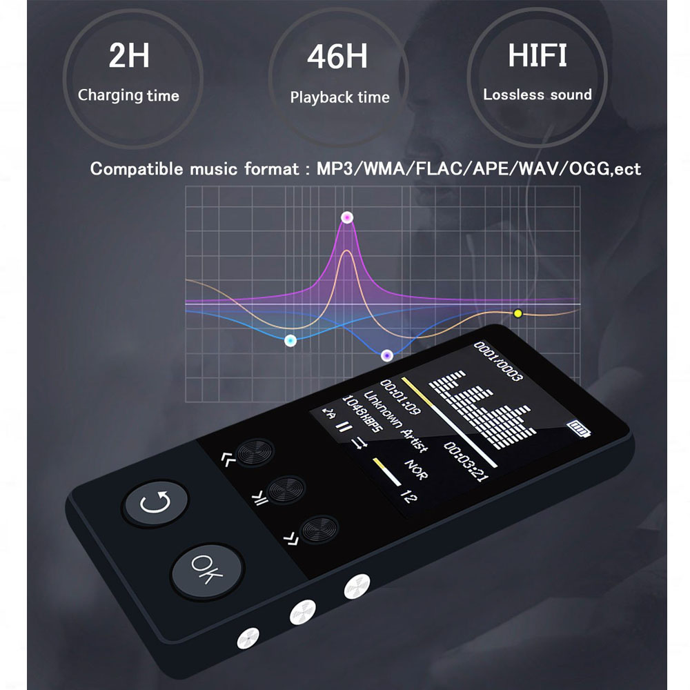mp4 player bluetooth metal mp4 music hifi player 8gb high quality lossless sound audio video player walkman supoorts FM Radio все цены