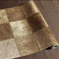 wellyu papel de parede, minimalist imitation leather grain lattice wallpaper living room bedroom sofa background wallpaper