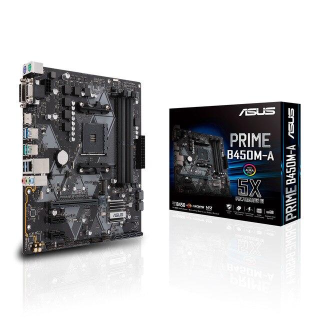 ASUS PRIME B450M-A, DDR4-SDRAM, DIMM, 2133,2400, 2666,2800, 3000,3200 MHz, Dual, 64 go, AMD