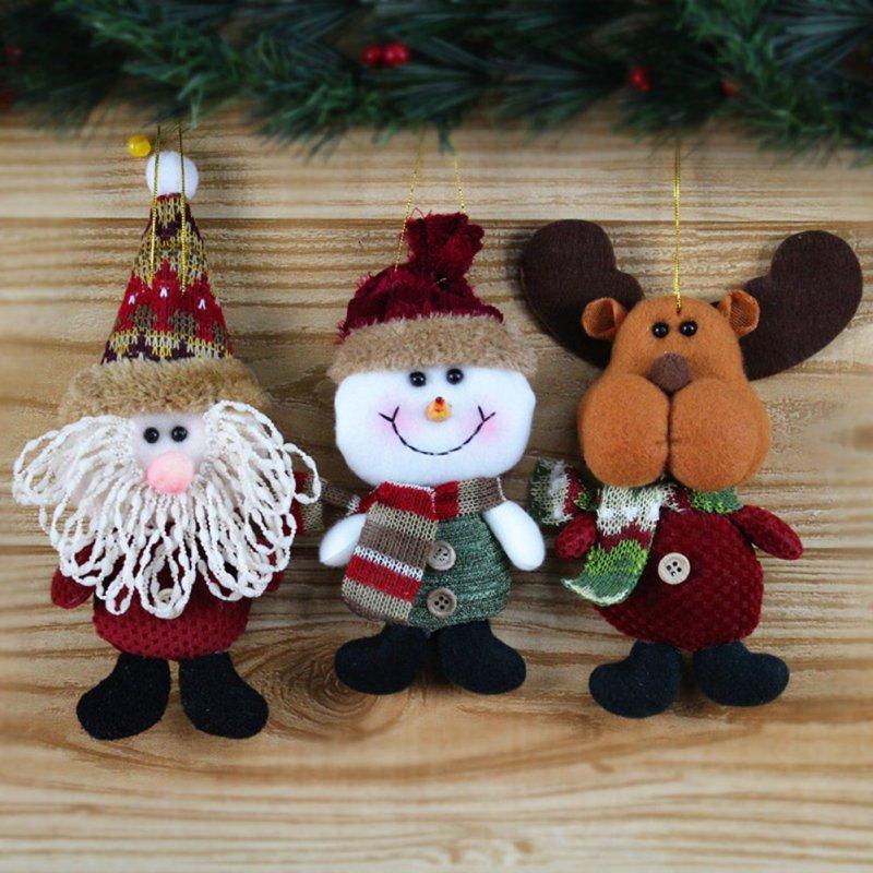 nueva ciervos regalo de pap noel mueco de nieve colgante de navidad rbol de navidad decoracin