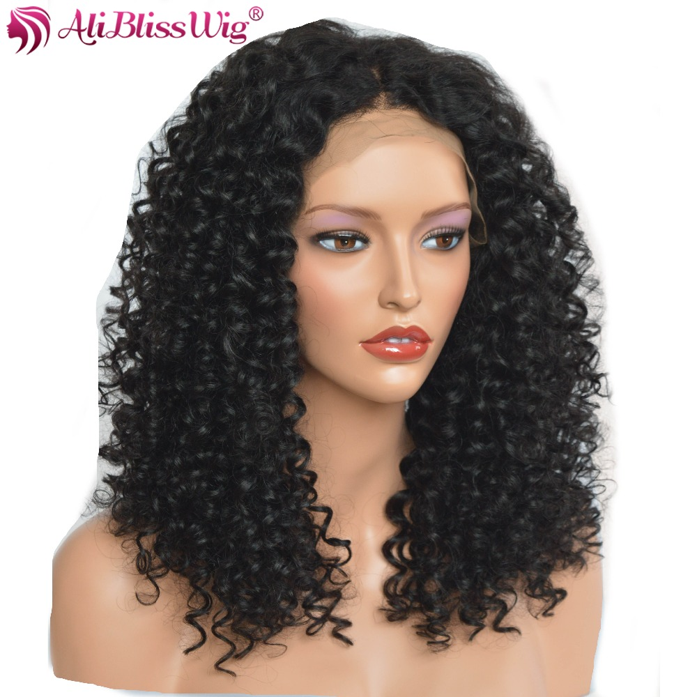 AliBlissWig Curly 360 Lace Wigs With Baby Hair Natural ...