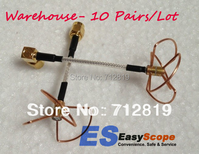 Warehouse 10 pairs/Lot 5.8Ghz 3 & 4 Blade Clover Leaf Antenna & Skew Planar W/SMA plug, FPV antenna fpv 5 8g clover 3 blade transmitting w 4 blade receiving antenna tx w rx straight bore connector